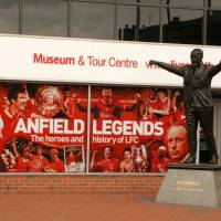 Never walk alone: A statue of former Liverpool manager Bill Shankly stands at Anfield, the home of Liverpool Football Club, in northwest England in 2006. | BLOOMBERG