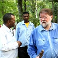 Shared views: My visitors from Ethiopia, who were as delighted to see our Afan woods as I was to be invited to assist their efforts in the Simien Mountains.   CONAN MORIMOTO