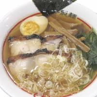 Cluck in: Marusen Seimen's three varieties of Hakata-style noodles are made with chicken broth, instead of pork. | ROBBIE SWINNERTON