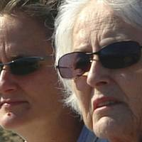Silvia (left) and her mother visit Red Rock Canyon State Park in the Nevada desert in 2005. | COURTESY OF SMARTGIRL PRODUCTIONS LLC
