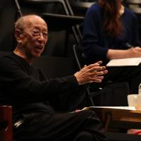 Master class: Yukio Ninagawa directs SGT members in rehearsal. 'I am still groping for the most effective way of working with them,' he says. | © MAIKO MIYAGAWA