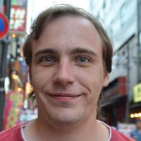 Luke Marsh, Teacher, 25 (English): None in Japan. In England I didn't watch television unless there was something that really appealed to me. I never really liked TV in England, and I think now I'm in Japan that it's a shame to sit in watching TV in such an enthralling place.