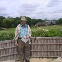 Place of inspiration: Poet John Gribble is seen at Korakuen Garden in the city of Okayama in late June. | MIWAKO KASHIWAGI