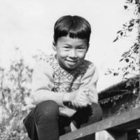 Naoto Kan at home in Yamaguchi Prefecture at about age 7. | KYODO