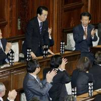 Kan in the Diet after being named prime minister on June 4, 2010. | KYODO