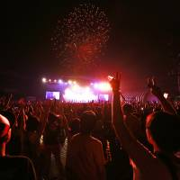 A fireworks display signaled a successful end to this year's Summer Sonic. | VIOLA KAM
