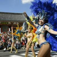 Asakusa gets ready to party Brazilian style