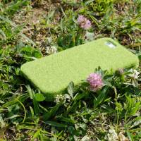 Shibaful's iPhone case is designed to look the grass found in Tokyo's Yoyogi Park.