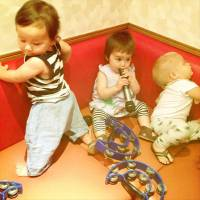Singalong: A sound-proofed karaoke room is an ideal place to get together with friends when you all have hyperactive toddlers. | DANIELLE DEMETRIOU