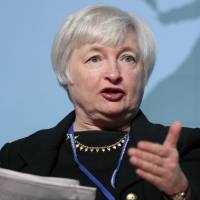 Minds and personalities: Janet Yellen, vice chairman of the U.S. Federal Reserve, speaks at a panel session at the Annual Meetings of the International Monetary Fund and World Bank Group in Tokyo on Oct. 10, 2012. | BLOOMBERG