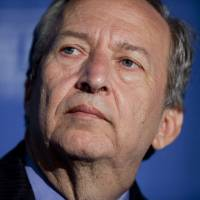 'Larry' Summers, professor at the John F. Kennedy School of Government and former director of the U.S. National Economic Council, speaks at the Brookings Institutions's Hamilton Project forum in Washington on May 3, 2012. | BLOOMBERG