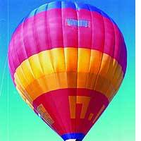 The hot-air balloon Milky Way 2 is readied in Tochigi Prefecture for a trans-Pacific flight.