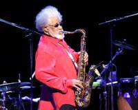 Rollin back the years: Tenor saxophonist Sonny Rollins performs at JCB Hall in Tokyo on Monday. | AP PHOTO