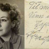 Brought to light: This undated photo given to Japanese tourism official Tatsuo Osako and released on July 26 by Akira Kitade, who worked under Osako, shows a woman and a brief message written on the back. The photograph is part of a recently discovered group of prints that throw more light on a subplot of the Holocaust: the small army of Japanese bureaucrats who helped shepherd thousands of Jews to safety.   AP PHOTO