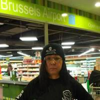 On board: Kuniko Oyakawa, one of the first two Japanese to identify themselves as crew members of Sea Shepherd vessels next month, poses at Brussels Airport Sunday. | COURTESY OF KUNIKO OYAKAWA