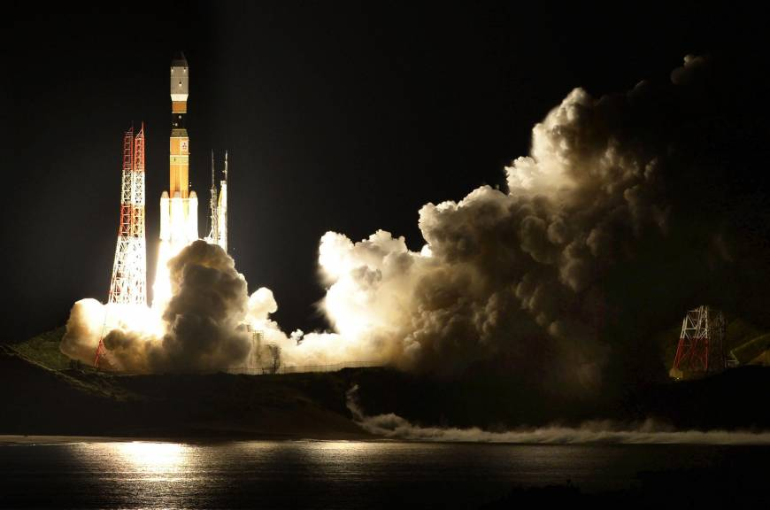 H-IIB rocket carrying cargo for ISS lifts off from Tanegashima