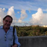 Oliver Stone warmed to Okinawans, fired up base foes