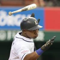 Grand larceny: Seibu's Esteban German is currently second in NPB with 28 stolen bases. | KYODO