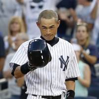 Phenomenal achievement: Ichiro Suzuki, along with Pete Rose and Ty Cobb, is one of just three men in pro baseball history to amass 4,000 hits in their career. | KYODO