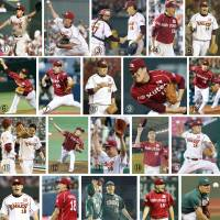History in the making: Images from every one of Eagles starter Masahiro Tanaka's past 21 decisions (all wins).  | KYODO