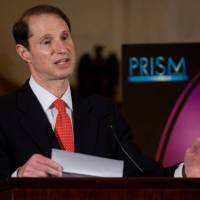 Shinning a light on secrets: Sen. Ron Wyden speaks at the 2007 PRISM Awards reception on Capitol Hill in February 2007. The awards honor Hollywood for accurate portrayals of substance abuse, addiction and mental health in entertainment programming. Mark Finkenstaedt/courtesy office of sen. | RON WYDEN