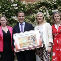 Targeted by trolls: After Caroline Criado-Perez (far right) successfully petitioned to have Jane Austen's image appear on Britain's new £10 banknote, Twitter trolls used the anonymity of the Internet to inundate her with threats of rape and violence. And when member of Parliament Stella Creasy (second from right) defended her, she suffered similar abuse. | BLOOMBERG