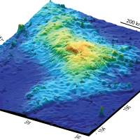 Under the sea: The topography of Tamu Massif, the largest volcano ever found on Earth, is seen in 3-D. | THE WASHINGTON POST