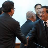 Cambodia rivals meet after protest bloodshed
