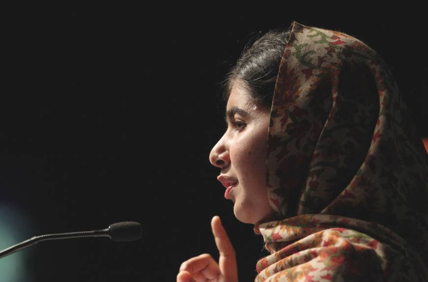 Send books, not guns, Malala implores at U.N.