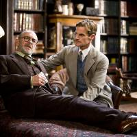 Thinking: Martin Rayner (left) plays Sigmund Freud, the father of psychoanalysis and one of the six thinkers in a new series on learning life lessons from these men, in the play ' Freud's Last Session' in Pittsfield, Massachusetts, in June 2009. | BLOOMBERG