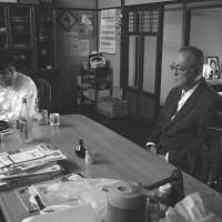 Taking control: Veteran actor Tatsuya Nakadai stars in 'Nihon no Higeki (Japan's Tragedy)' as a terminally ill man who decides to lock himself in a room and starve to death — much to the dismay of his son (Kazuki Kitamura).   © 2012 MONKEY TOWN PRODUCTIONS