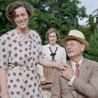 Royal weekend: Bill Murray plays U.S. President Franklin D. Roosevelt in 'Hyde Park on Hudson.'  The film costars Olivia Williams as Eleanor Roosevelt (left) and Laura Linney as Margaret 'Daisy' Suckley (center), and takes place in 1939 when Britain's King George VI and Queen Elizabeth visited the United States. | © 2012 FOCUS FEATURES LLC. ALL RIGHTS RESERVED.