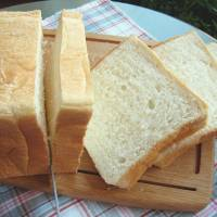 Slice of life: A Japanese shokupan loaf is usually white and much fluffier than bread overseas.   MAKIKO ITOH