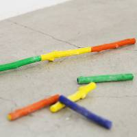 Gen Suzuki's Walden crayons fit together to create one long twig.