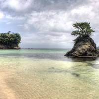 Time for a paddle: Tsushima's Miuda Beach offers gorgeous clear waters and is one of the island's most picturesque spots. | ALON ADIKA
