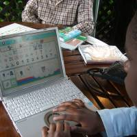A boy in Kenya plays an online game with a girl in Japan. | NPO PANGAEA