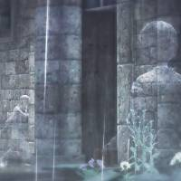 A screenshot of 'Rain,' Sony's Japan Studio game that features an invisible world that can only be revealed through rainfall.