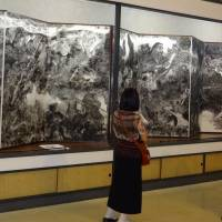 Perils of progress: A painting depicting the environmental disaster involving the Ashio Copper Mine in Tochigi Prefecture is displayed at the Maruki Gallery for the Hiroshima Panels in Higashimatsuyama, Saitama Prefecture. | KYODO