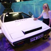 License to dive: The Lotus Esprit used in the James Bond movie 'The Spy Who Loved Me' was sold Monday at a London auction for £550,000. | AP
