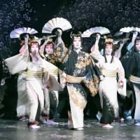 Chasing fans abroad: Members of the all-female Takarazuka Revue Company perform in Taipei in April. For its first totally solo overseas undertaking, the musical troupe managed to handle everything itself, from ticket sales and promotion to renting a theater. | KYODO