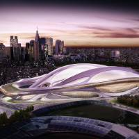 Visions of the future: The new Olympic Stadium in Shinjuku Ward, conceptualized above, will be the main venue for athletics, soccer and rugby. | TOKYO 2020
