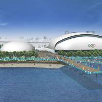 Take the plunge: The Olympic Aquatics Center (right) for swimming and diving. | TOKYO 2020