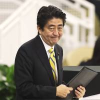 Abe signals readiness to involve Japan more in U.N.'s security framework