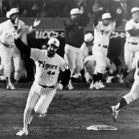 Once upon a time: Randy Bass clouted 54 home runs for the Hanshin Tigers during their story book run to the Japan Series title in 1985. | KYODO