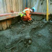 Inside London's closet: Skeletons are part of the mystery being churned up in the tunnels of London's Crossrail network, Europe's largest ongoing construction project. | THE WASHINGTON POST