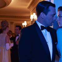 Attractive audacity of the bad boy: Jon Hamm plays the main character Don Draper, and Jessica Pare is Megan in the TV series 'Mad Men.' | BLOOMBERG
