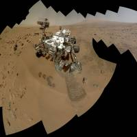 Rock 'n' rove: An image provided by NASA shows a self-portrait of the Mars rover Curiosity. | AP