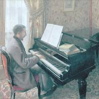Gustave Caillebotte's 'Young Man Playing the Piano' (1876)   BRIDGESTONE MUSEUM OF ART, ISHIBASHI FOUNDATION