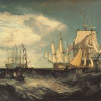 Seas of change: 'Spithead: Two Captured Danish Ships Entering Portsmouth Harbour' by Joseph Mallord William Turner | @ TATE, LONDON