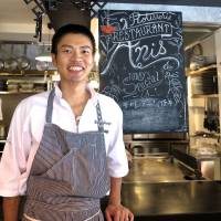 Anis chef Susumu Shimizu cooks his meat in large joints over a special griddle, taking many hours to achieve a luxurious flavor.   ROBBIE SWINNERTON